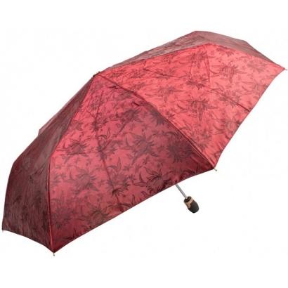 Женский зонт Три слона 120-3 ( Жаккард-Бордовый  )