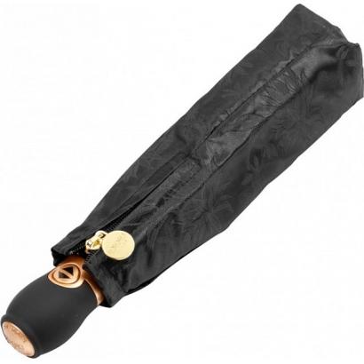 Женский зонт Три слона 120-5 ( Жаккард-Черный  )
